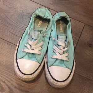 Blue slip on converse